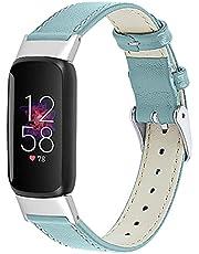 TopTen Klockband kompatibelt med Fitbit Luxe rem, läder justerbart armband, ersättningstillbehör armband