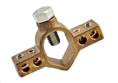 Mighty-Bond IGBC-075 Intersystem Ground Rod Bridge Clamp, Bronze, Stainless Steel Screws, 2.79'',0.50'',0.63'',0.26'' (Pack of 25) by Mighty-Bond