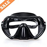 To Max Scuba Diving Mask -Professional Snorkeling Gear Mask - Ultra clear lens with Wide View Tempered Glass Goggles, Scuba diving equipment Mask,Anti-leakage Silicone Swimming Goggles Mask for Adults