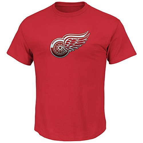 (Detroit Red Wings NHL Men's Embroidered Lightweight Tek Patch T-Shirt (Small))