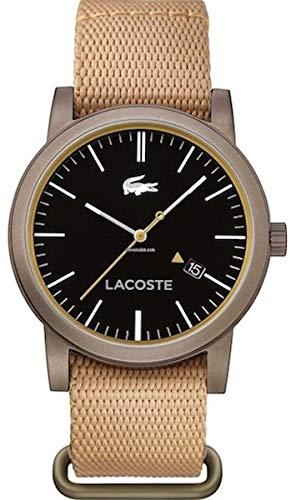 Lacoste para hombre-reloj analógico de cuarzo metro textil 2010838: Lacoste: Amazon.es: Relojes