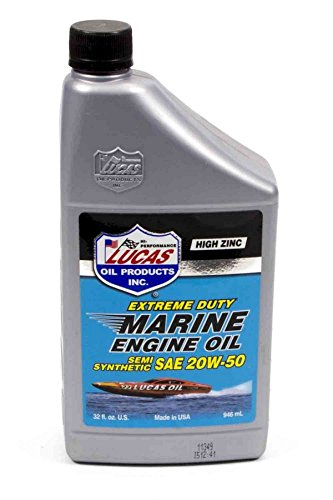 Lucas Oil Products LUC10654 Marine Semi-Synthetic SAE 20w50 Motor Oil, 1 quart