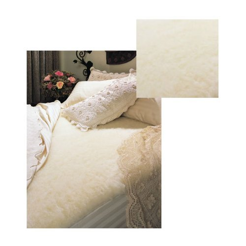 SnugFleece SnugSoft Elite Wool Mattress Topper Pad Cover TWIN SIZE 39 X 75