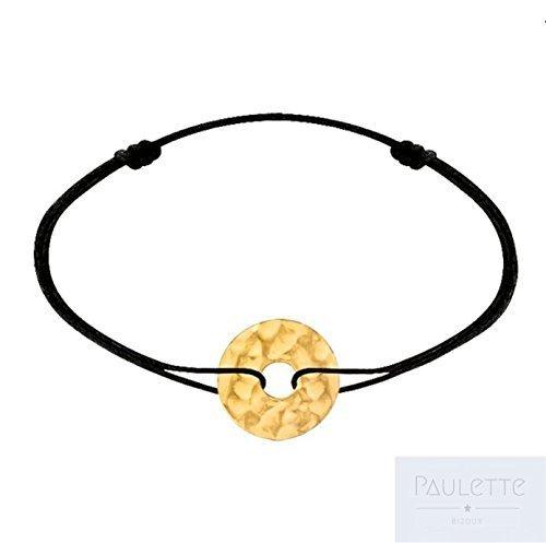 Bracelet Cercle/Cible martelé e plaqué