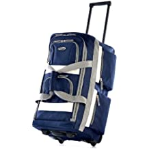 """Olympia 26"""" 8 Pocket Rolling Duffel Bag, Navy, One Size"""
