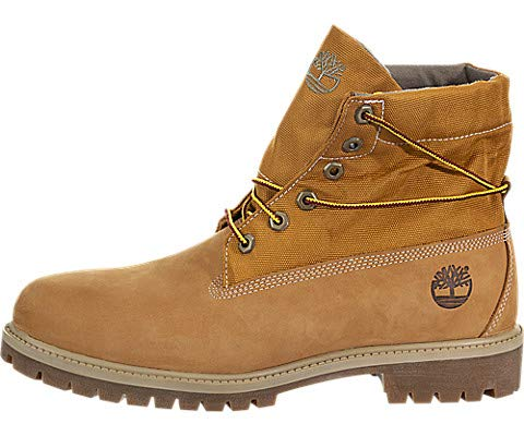 Timberland Men's Icon Collection Single Roll-Top Ankle Boot, Wheat Nubuck, 8.5 Medium US