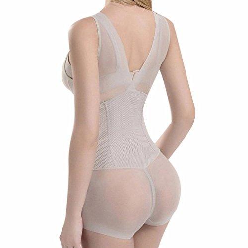 b596317b2 AVENBER Women Bodysuit Shaped Clothing Body Shaper Lady Slimming Burn Fat  Briefs Shapewear at Amazon Women s Clothing store