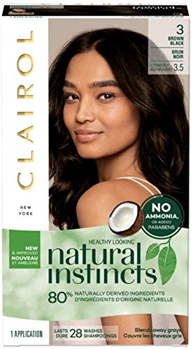 Clairol Natural Instincts Haircolor 3.5 Brown Black 1 Each (Pack of 4) (Clairol Hair Color Black Brown)