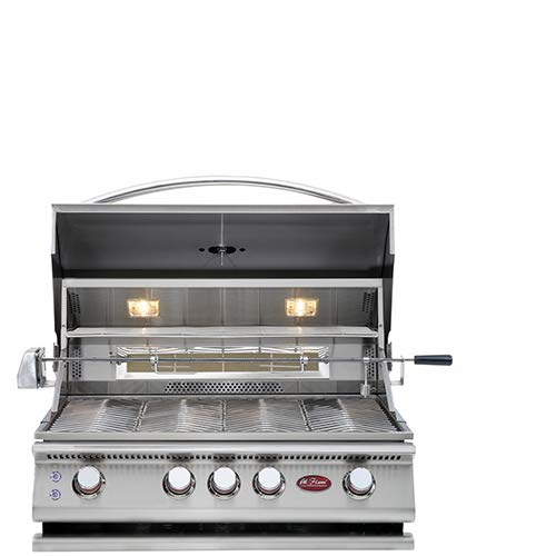 Cal Flame 089245002185 4 Burner Deluxe Convection Grill Head W/Rotisserie, Stainless Steel (Cal Flame 4 Burner)
