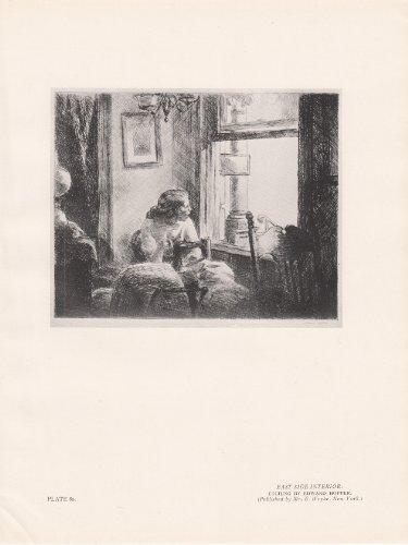 East Side Interior - Vintage Print Illustration 1927