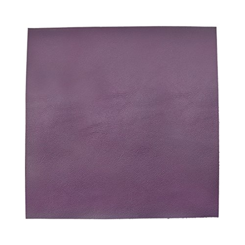 Hide & Drink Leather Square (12''x12'') for Crafts/Tooling/Hobby Workshop, Medium Weight (1.8mm) by Purple by Hide & Drink