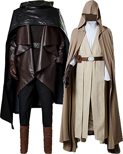 Cosplaysky Star Wars 8 The Last Jedi Luke Skywalker Costume Halloween Outfit Two Versions