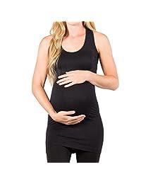 ASTV Women Maternity Tops Blouse Plain O-Neck SleevelessTank Top Vest