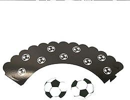 Steellwingsf 24 Piezas de Decoraciones para Tartas de fútbol ...