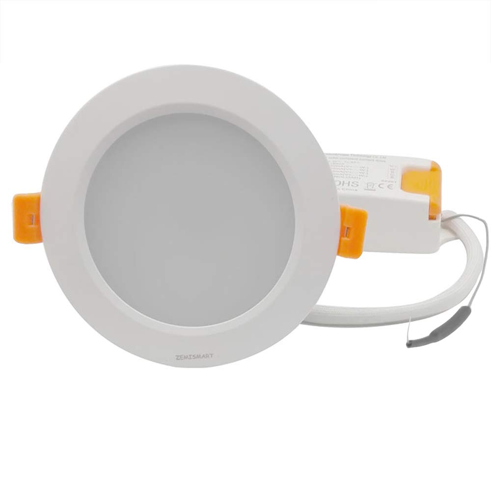 ZLL ZigBee Smart RGBW 3.5 inch Recessed Retrofit Downlight 12W Φ10cm LED Dimmable Fixture Ceiling Light Multi-Color Work with Amazon Alexa Echo Plus Home Automation[CE Certificate]