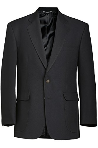Ed Garments Men's Classic Two Button Single Breasted Blazer, BLACK, 38 Tall ()