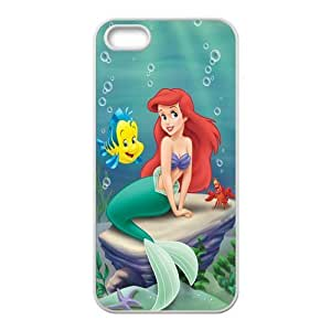 Exquisitely Customized Disney Animation The Little Mermaid Iphone 5 5s Case Cover ,Rubber Shell Hard Back Cases Gift Idea At CBRL007