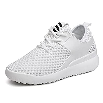 b6caf8cb1 Baqijian Trend Ladies Walking Shoes Summer Women Running Sneakers Lace Up  Sport Trainers Black White Jogging