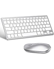 OMOTON Wireless Bluetooth Keyboard and Mouse for iPad (iPadOS 13 / iOS 13 and Above), Compatible with New iPad, iPad Pro, iPad Mini, and Other Bluetooth Enabled Devices (Silver)