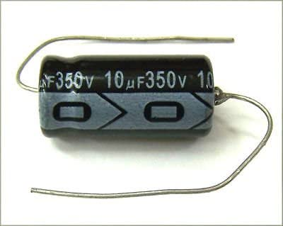 100uf 350V F/&T Type A Axial Polarized Electrolytic Capacitor