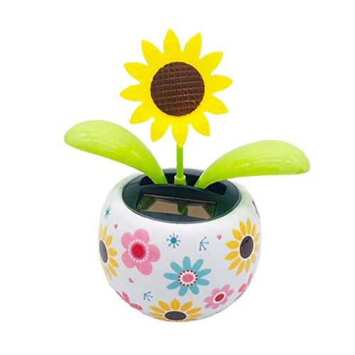 ADJ 패션 태양 강화한 춤추는 꽃 장난감 태양열 자동 스윙 화분을 차 훈장을 위한 사무실 책상 및 자동차 장식
