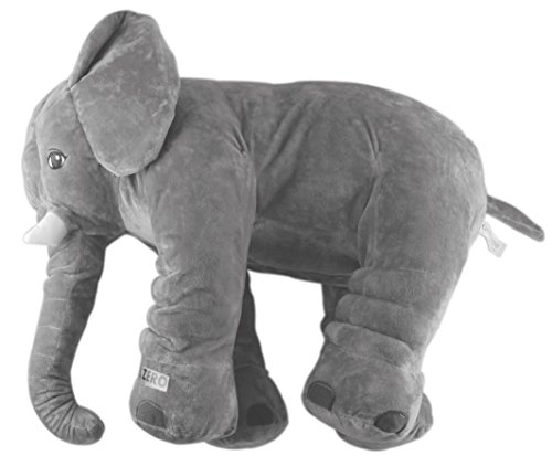 Grifil Zero Elephant Plush Toy Extra Large Size Animal Plush Doll Toy Grey 24 inch