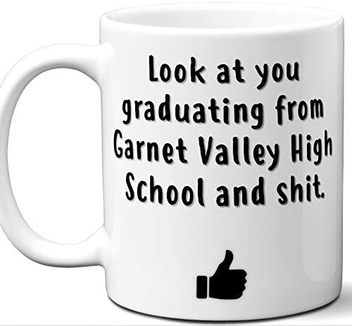 - Garnet Valley High School Graduation Gift. Cocoa, Coffee Mug Cup. Student High School Grad Idea Teen Graduates Boys Girls Him Her Class. Funny Congratulations. 11 oz.