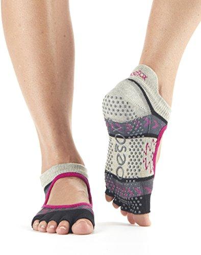 Donna Pilates amp; Bellarina Moonshadow Calze Barre Toe Toesox Socks Grip For Half slip Ballet non Yoga SwBqP6Anx