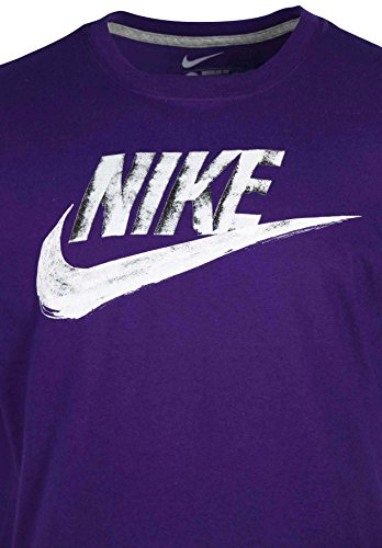 Nike Men's Paint Roller Nike Swoosh Graphic T-Shirt-Purple-XL