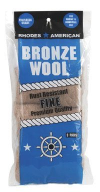 HOMAX PRODUCTS 123100 Bronze Fine Wool Pad 3-Pack by Homax Products