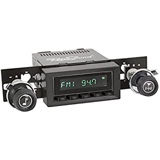 Sale Off RetroSound HB-216-37-73 Hermosa Direct-fit Radio for Classic Vehicles (Black Face & Buttons and Black Bezel)