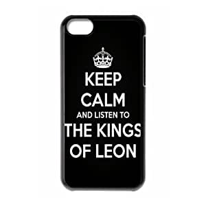 Music Band D3 Kings Of Leon Print Black Case With Hard Shell Cover for Apple iPhone 5C by lolosakes