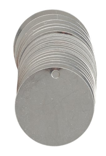 Brady 44402 Stock Blank Stainless Steel Tags, Stainless Steel, 2
