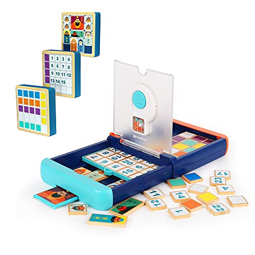 TOP BRIGHT Magic Block Game Board Game for Kids Head to Head Fast-Paced Card Game 2 Player Strategy Game for Ages 6 and Up Kids Family Adults