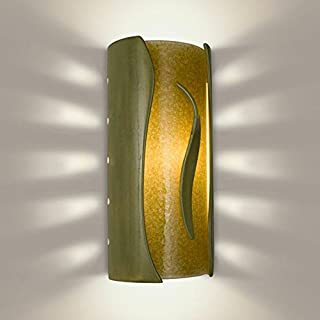 product image for A19 Flare Wall Sconce, 4-Inch by 5.5-Inch by 11.75-Inch, Sagebrush/Moss