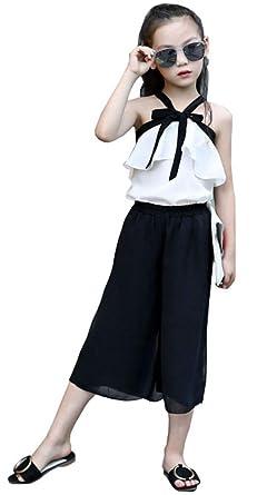 cea5b5d449f Amazon | 子供服 女の子 韓国 肩出し セットアップ キッズ 夏 トップス ...