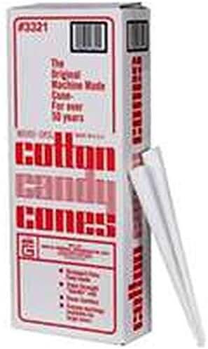 Plain Cotton Candy Cones (Set of 300)