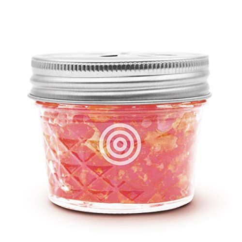 VIOIS, Guava Fig & Orange Aromatherapy Car Air Freshener(Gel Type). Natural Air Freshener for Car, Bedroom, Bathroom & Office. Chemical Free & Non Toxic. Ball Mason 4 Ounce (113g) jar.