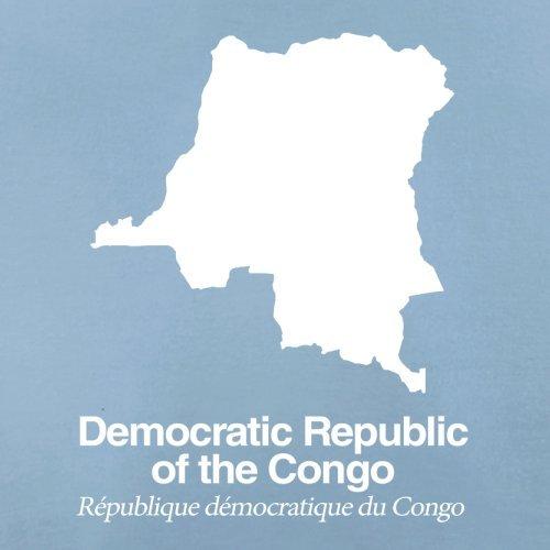 Democratic Republic of the Congo / Demokratische Republik Kongo Silhouette - Herren T-Shirt - Himmelblau - XL