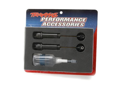 (Traxxas 2662 Hard-Anodized, PTFE Coated T6 Aluminum Big Bore Shocks with TiN shafts, XX-Long (pair))
