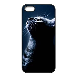 ALICASE Diy Customized Hard Case Cat for iPhone 5,5S [Pattern-1]