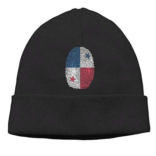 lsrIYzy Men/Women Panama Flag Fingerprint Outdoor Wool Beanies Hat Soft Winter Skull Caps ()