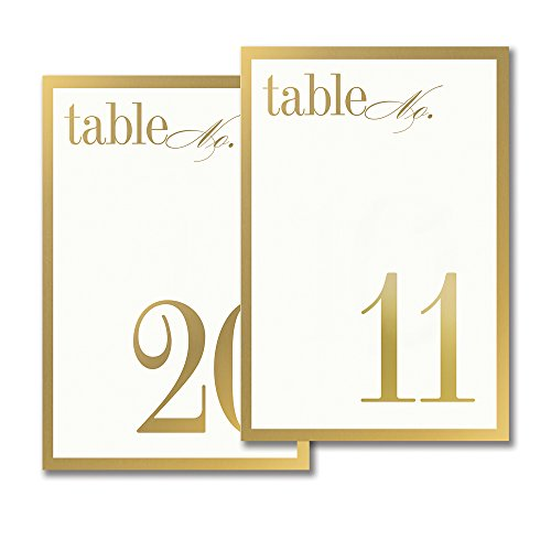 Vera Wang 11-20 Gold Bordered Table Cards by Vera Wang