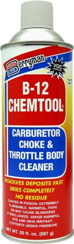 Berryman (0120C-12PK) B-12 Chemtool Carburetor/Choke and Throttle Body Cleaner - 20 oz, (Pack of 12)
