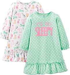 Little Kid Girls 2-Pack Fleece Nightgowns