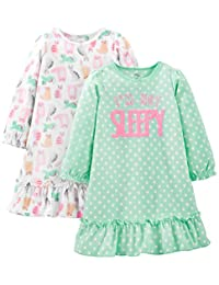 Simple Joys by Carter's Little Girls' 2-Pack Fleece Nightgowns