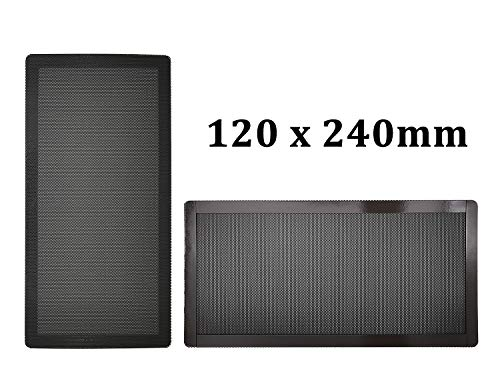 120mm x 2 PC Computer Case Fan Dust Filter Screen Dustproof Case Cover with Magnet, Ultra Fine PVC Mesh, Black Color - 2 Pack (Vent Computer Screen)