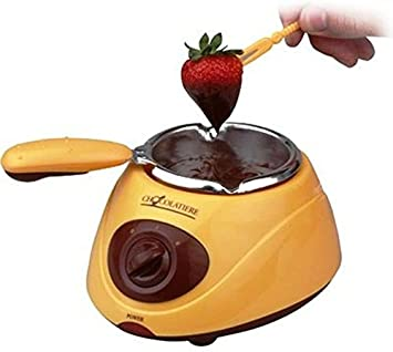 Silicone Bakeware Chocolatiere Electric Chocolate Melting Pot Stainless Steel Yellow 235x10x11 Cm