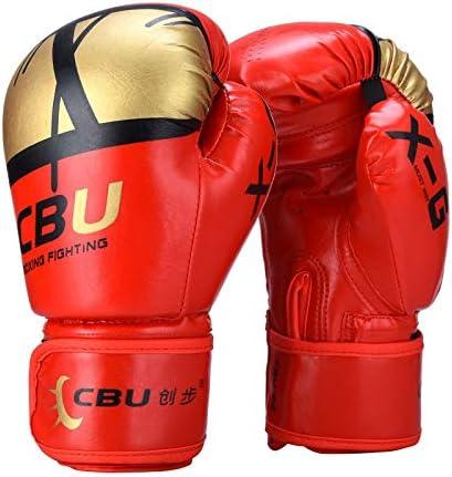 手袋 日常 実用 マイクロファイバーボクシンググローブムエタイボクシング、総合格闘技、キックボクシング、トレーニングボクシング用品、バッグミット、フォーカスミット (Color : Red)
