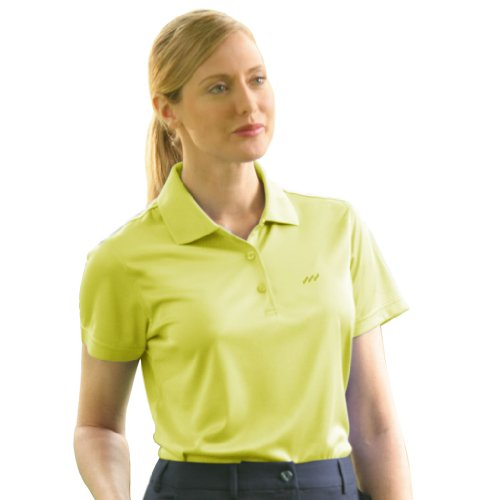 Monterey Club Ladies' Dry Swing Window Dot Texture Shirt #2074 (Limeade, Large) (Limeade Dot)